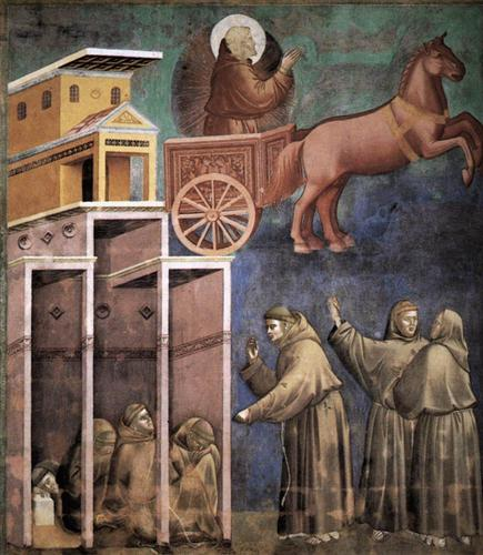 Vision of the Flaming Chariot - Giotto