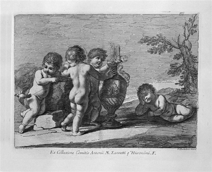 Joke of putti - Giovanni Battista Piranesi