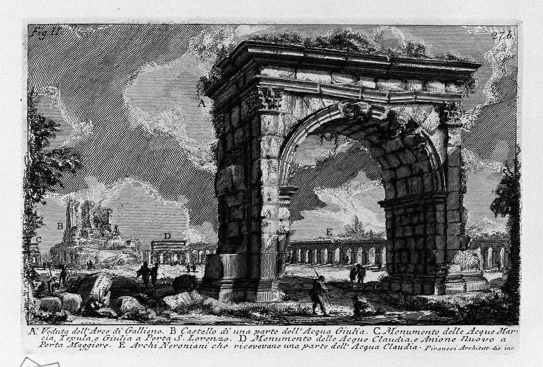 The Roman antiquities, t. 1, Plate XXVI. Arch of Gallienus., 1756