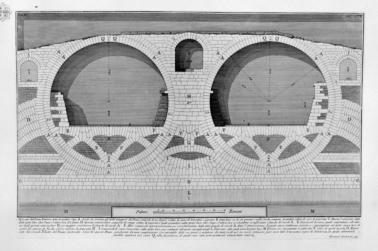 Elevation For Circular Plan : The roman antiquities t plate xix plan elevation