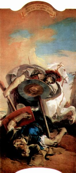 Eteokles and Polyneikes - Giovanni Battista Tiepolo