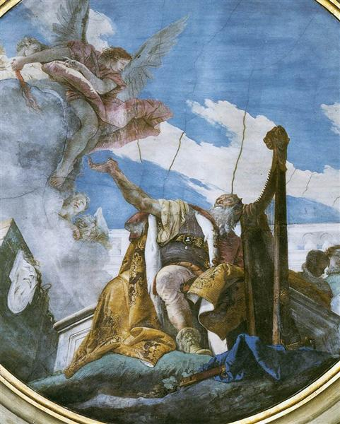 King David Playing the Harp, 1737 - 1739 - Giovanni Battista Tiepolo