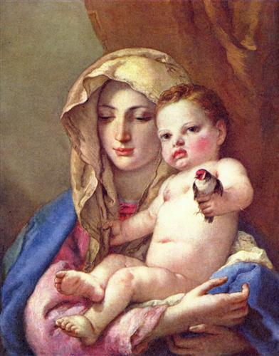 Madonna of the Goldfinch - Giovanni Battista Tiepolo