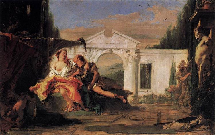 Rinaldo and Armida, 1755 - 1760 - Giovanni Battista Tiepolo