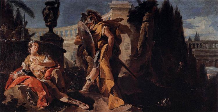 Rinaldo observed by Carlo and Ubaldo, 1750 - 1755 - Giambattista Tiepolo