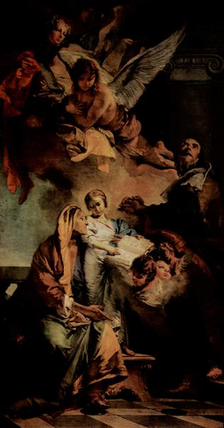 The Education of the Virgin, 1732 - Giovanni Battista Tiepolo