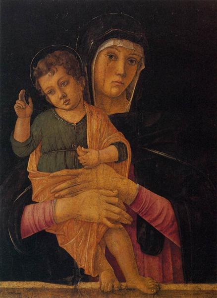 Madonna with Child Blessing, 1460 - 1464 - Giovanni Bellini