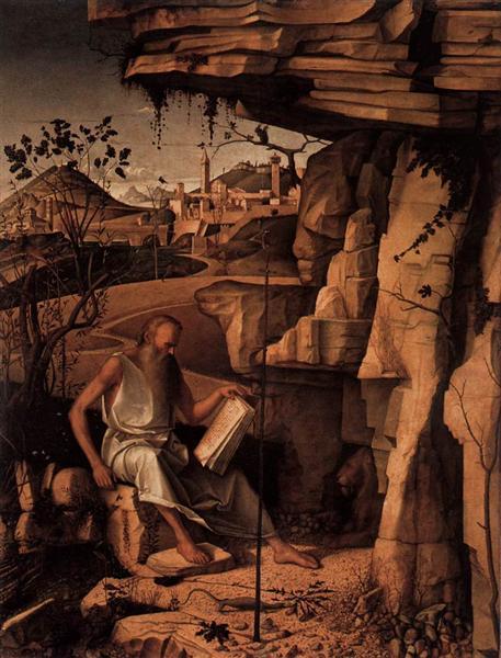 St. Jerome in the Desert, c.1480 - Giovanni Bellini