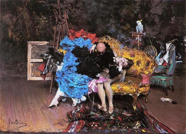 The Model and the Mannequin, 1873 - Giovanni Boldini