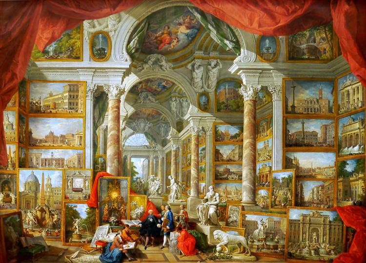 Gallery of Views of Modern Rome, 1759 - Giovanni Paolo Panini