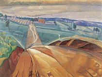 Landscape at Pentecost - Grace Cossington Smith