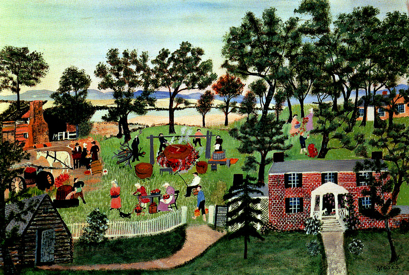 Grandma Moses Coloring Pages Works ""