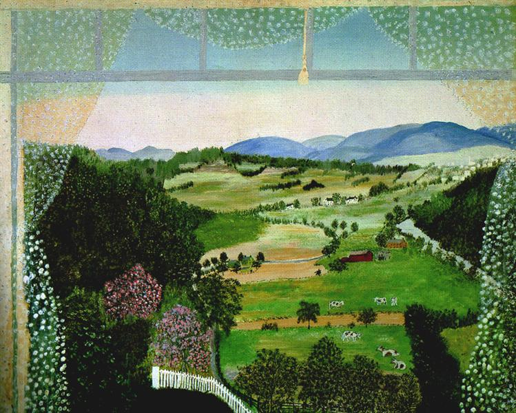 Hoosick Valley (From the Window), 1946 - Grandma Moses