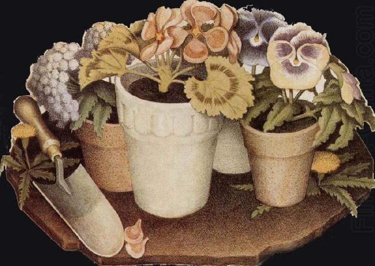 Cultivation Of Flower 1938 Grant Wood Wikiart Org