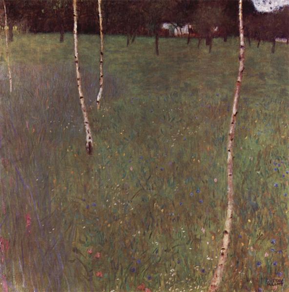 Farmhouses with Birch Trees, 1900 - Gustav Klimt