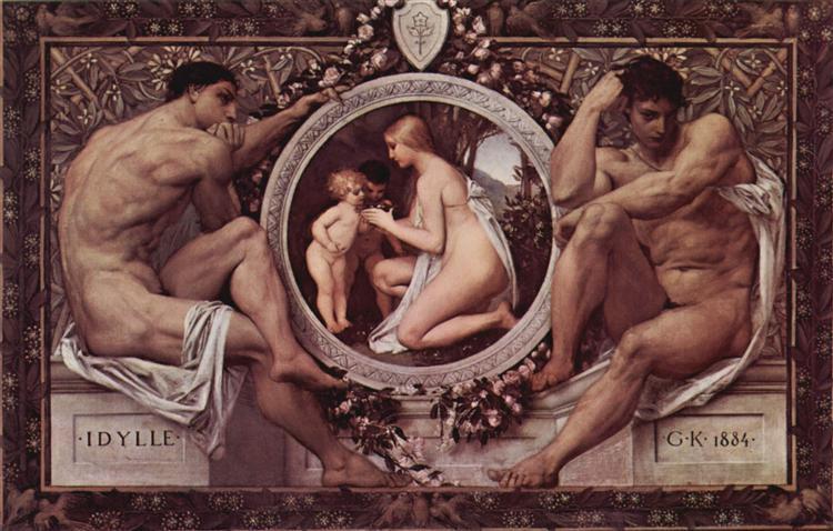 Idylle (Idylls), 1884 - Gustav Klimt