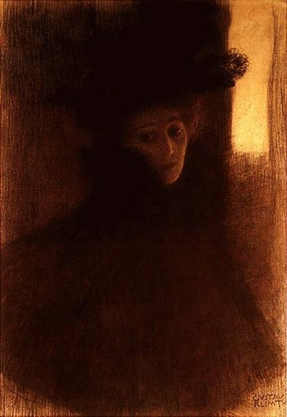 Lady with Cape and Hat, 1897 - 1898 - Gustav Klimt