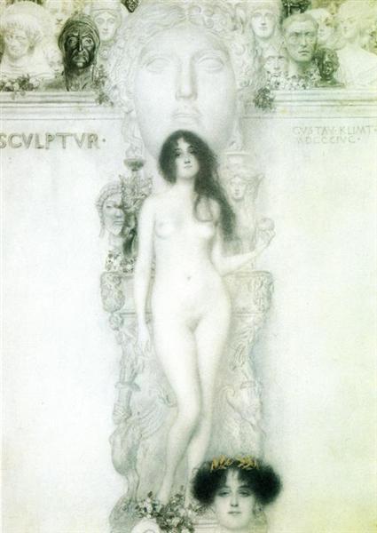 Sculpture, 1896 - Gustav Klimt