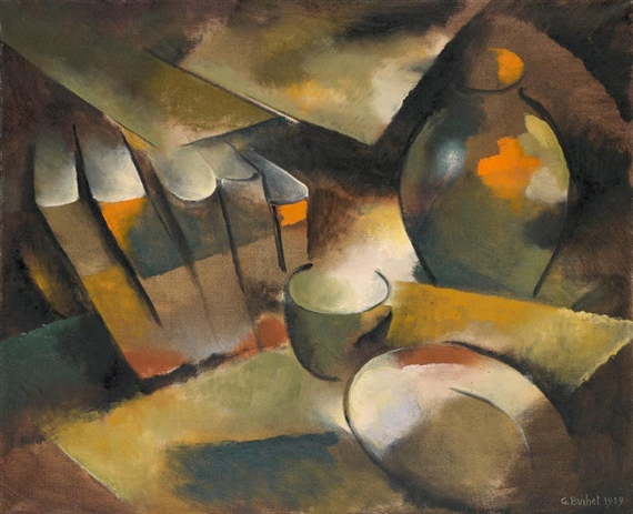 Still Life with Books and Vase, 1959 - Gustave Buchet