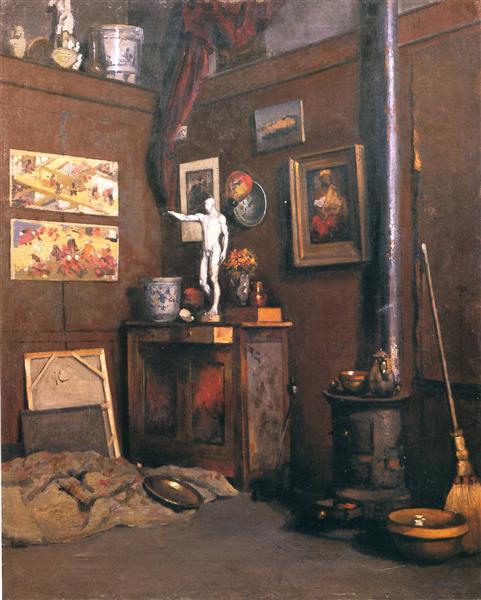 Interior of a Studio, c.1872 - c.1874 - Gustave Caillebotte