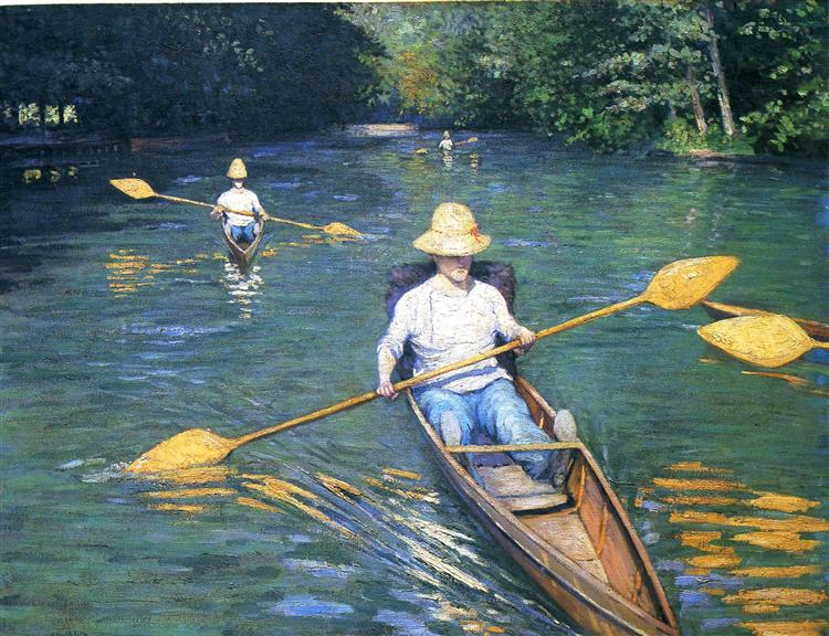 Skiffs on the Yerres, 1877 - Gustave Caillebotte