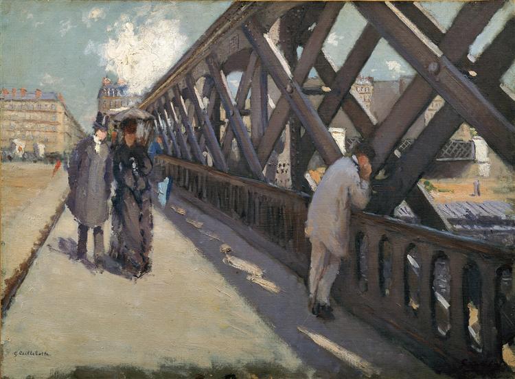 Study for Le Pont de l'Europe, c.1876 - Gustave Caillebotte