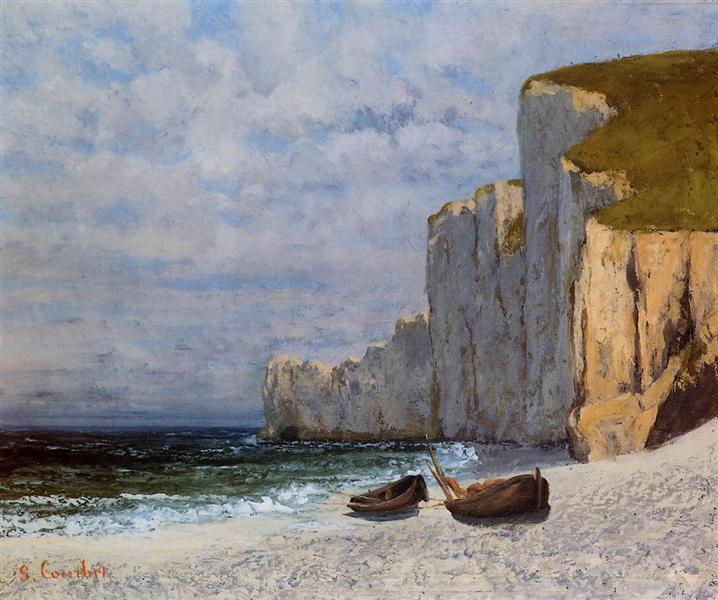 Bay with Cliffs, c.1869 - Gustave Courbet