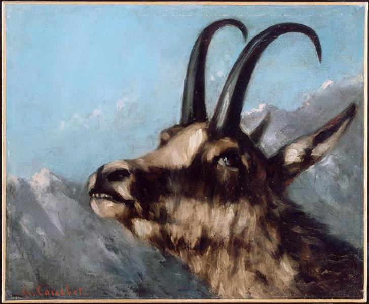 Head of Gazelle - Gustave Courbet
