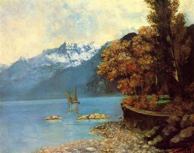 Lake Leman, 1874 - Gustave Courbet