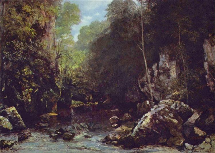 Landscape near Puits Noir, near Ornans, 1865 - Gustave Courbet