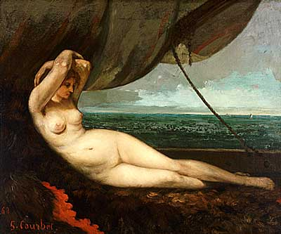 Nude Reclining by the Sea - Gustave Courbet