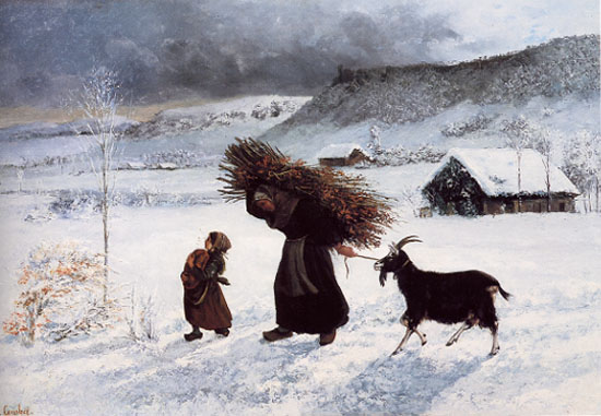 Poor Woman of the Village - Gustave Courbet