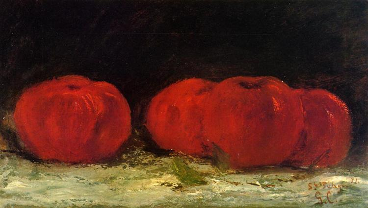 Red Apples, 1871 - Gustave Courbet