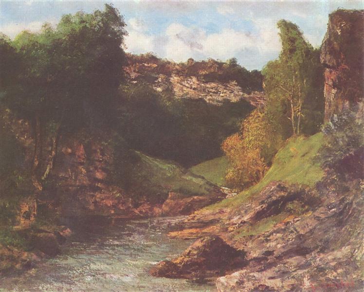 Rocky Landscape, c.1862 - Gustave Courbet