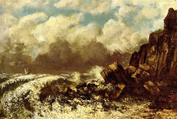 Seascape at Etretat, 1869 - Gustave Courbet
