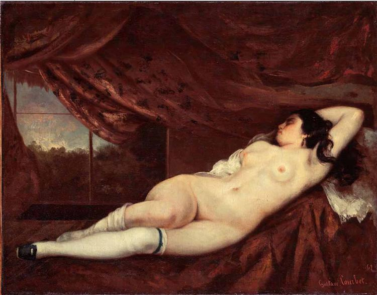 Sleeping Nude Woman, 1862 - Gustave Courbet