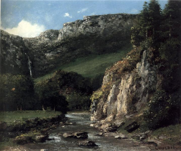 Stream in the Jura Mountains, 1872 - 1873 - Gustave Courbet