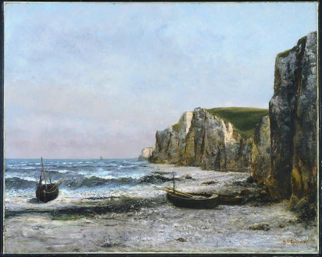 The cliffs at Étreat, 1866 - Gustave Courbet