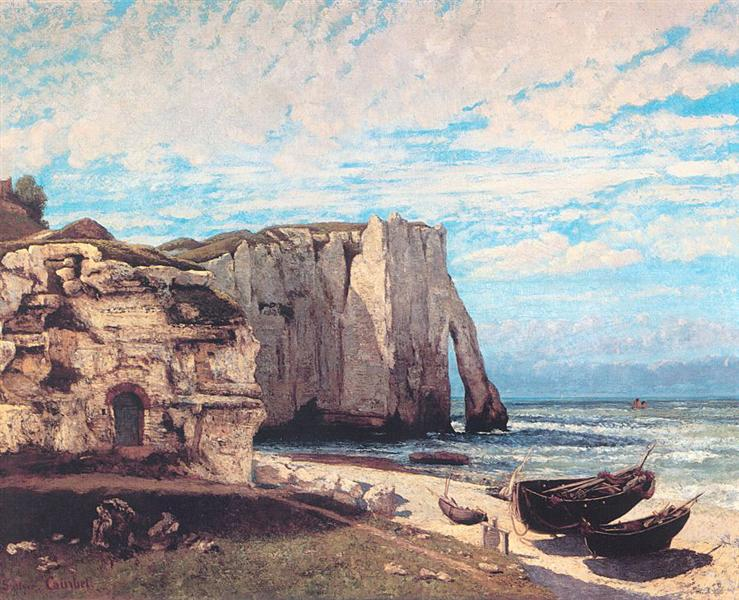 The Cliffs at Etretat after the storm, 1869 - 1870 - Gustave Courbet