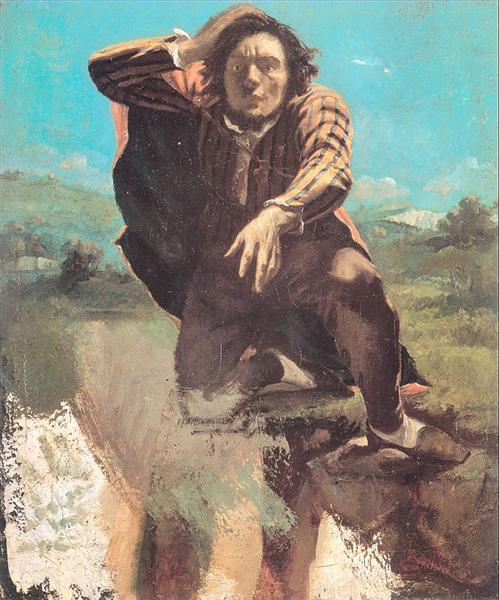 The Man Made Mad by Fear - Gustave Courbet