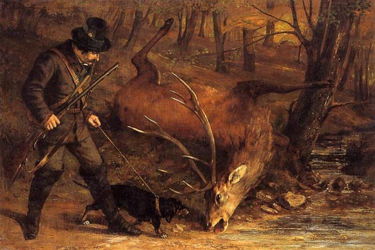 The German Huntsman, 1859 - Gustave Courbet