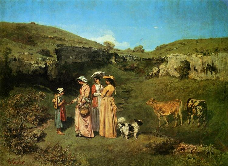 The Village Maidens, 1851 - 1852 - Gustave Courbet