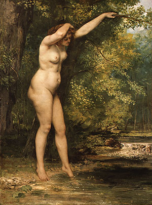 The Young Bather, 1866 - Gustave Courbet