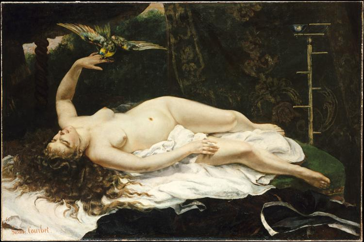 Woman with a Parrot, 1866 - Gustave Courbet