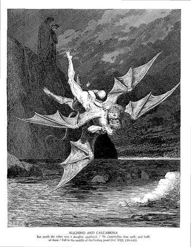 Alichino & Calcabrina - Gustave Dore