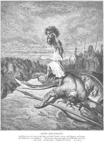 David Slays Goliath - Gustave Dore