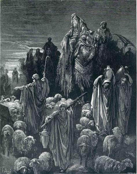 Jacob Goeth Into Egypt - Dore Gustave