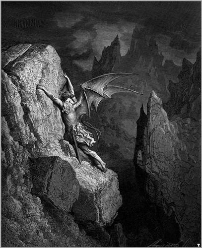 Satan's Flight Through Chaos - Gustave Dore