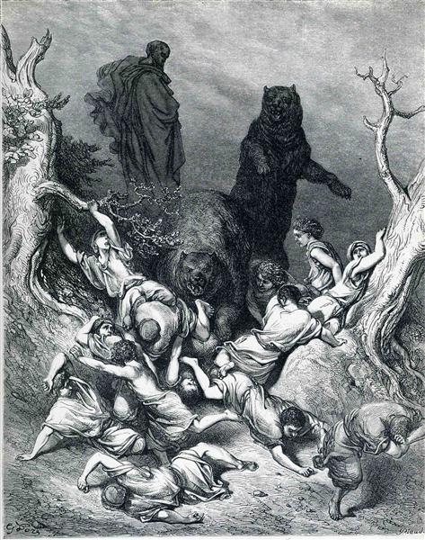 The Children Destroyed by Bears, 1866 - Gustave Dore