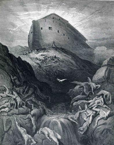 The Dove Sent Forth From The Ark - Gustave Dore